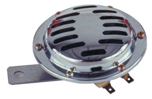 Chrome Disc - Wolo (270-2T) Chrome Disc Horn - 12 Volt, Low Tone