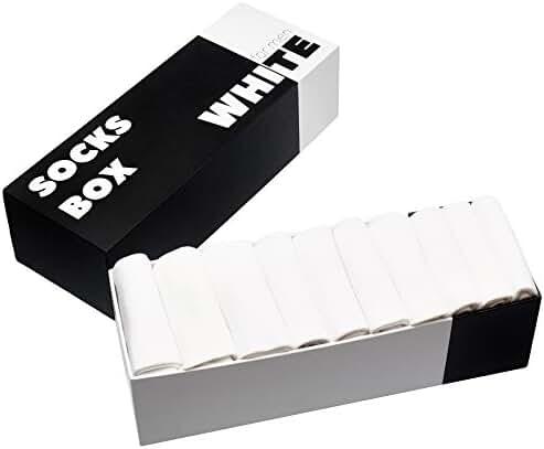 Crew socks men's pack of 10, socks gift box: cotton, athletic