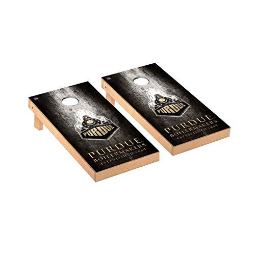 Victory Tailgate Regulation Collegiate NCAA Museum Series Cornhole Board Set - 2 Boards, 8 Bags - Purdue Boilermakers