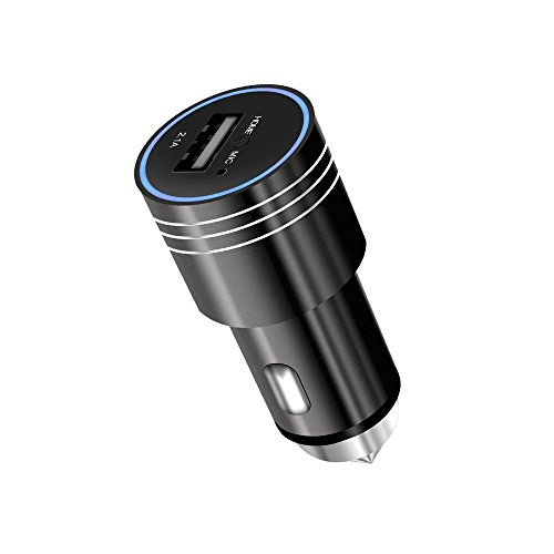 - KOBWA Bluetooth Car Charger MP3 Player Car Handsfree with Emergency Escape Hammer Lifesaver