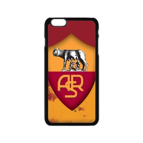(Custom cover Fashion Festival Gifts M-10 Football A.S. Roma Black Print With Hard Shell Case for iPhone 6/6S Plus 5.5