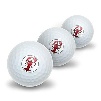 Lobster Novelty Golf Balls 3 Pack