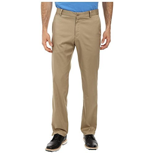 Nike Golf Tech Flat Front Dri Fit Pants In Khaki Brown (Nike Khaki Pants)