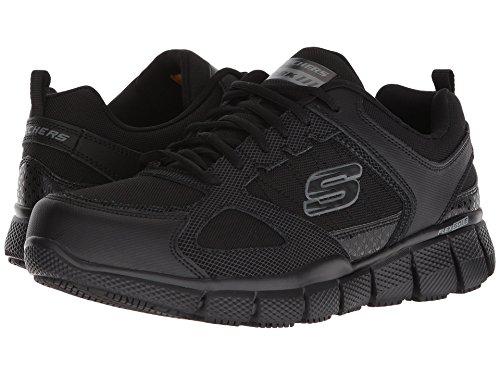 [SKECHERS(スケッチャーズ)] メンズスニーカー?ランニングシューズ?靴 Telfin-Sanphet SR Black 12 (30cm) D - Medium