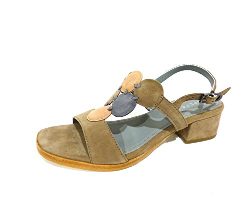 Apepazza  Erika crosta taupe, Chaussures à brides femme