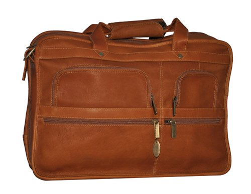 (David King & Co. Expandable Laptop Bag, Tan, One Size)