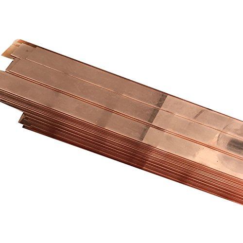 2pcs 99% Copper T2 Cu Metal Flat Bar Plate 3mm x 10mm x 250mm