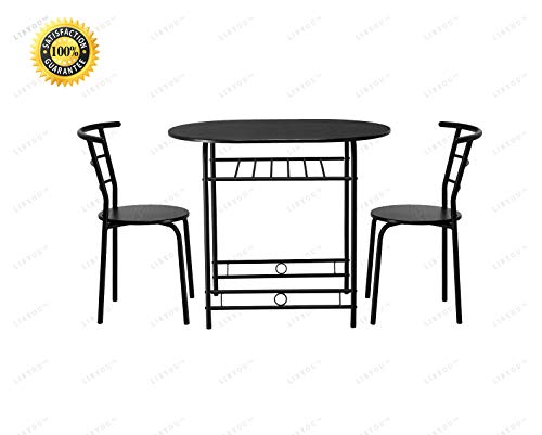 LIBYOU__Bistro Dining Set, Table and Chairs,Home Kitchen Dining Set,Breakfast Bistro Dining Set,Pub Furniture,Dining Kitchen Table,Dining Room Furniture,Kitchen Dining Table (Wine Furniture 36' Rack)