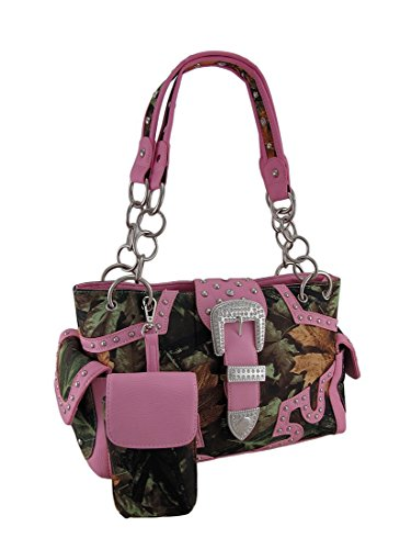 Zeckos Forest Camo Rhinestone Buckle Concealed Carry Purs...