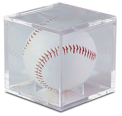 Baseball Display Cases Shop - BCW UV Protected Square Ball Holder Display Case Baseball by