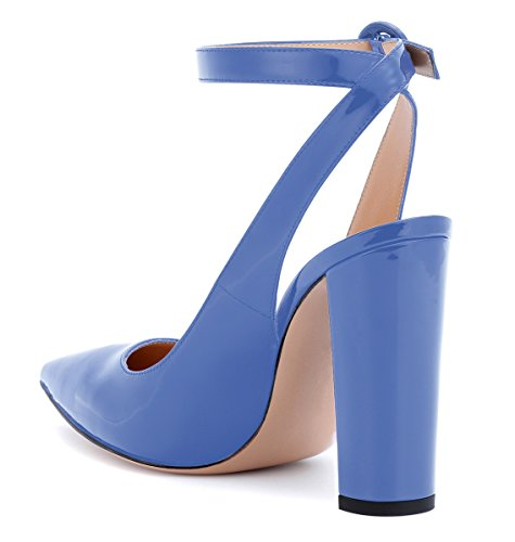 Escarpins Femmes Bleu Cm Ubeauty Aiguilles Heels High Hauts Élégant 10 Sandales Talons Slingback 7qnEq8