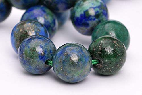 8MM Natural Azurite Gemstone Beads Grade AAA Round Loose Beads 7.5''