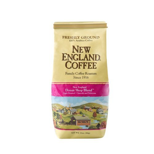 New England Coffee - Fresh Ground 100% Arabica Coffee - New England Donut Shop Blend - Light Roasted - Net Wt. 11 OZ (312 g) Each - Pack of - England Shop