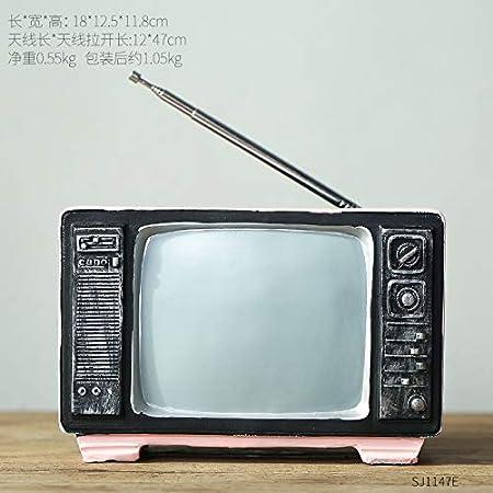 Modelo De Radio De Tv Creativo Escritorio Widget Accesorios Para El Hogar 18x12x11cm Pink TV: Amazon.es: Hogar