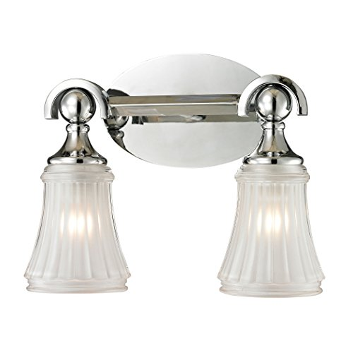 Elk Lighting Chrome Vanity (Elk Lighting 11681/2 Jayden Collection 2 Bath Light, Polished Chrome)