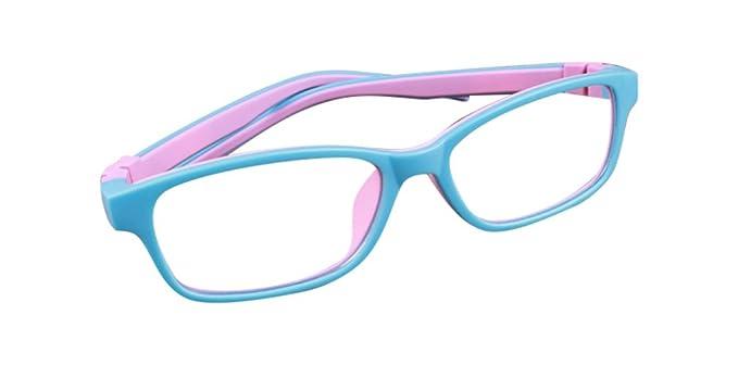 De Ding Kinder Silikon Optische Kurzsichtige Brillen Rahmen Schwarz Blau uKNUnh