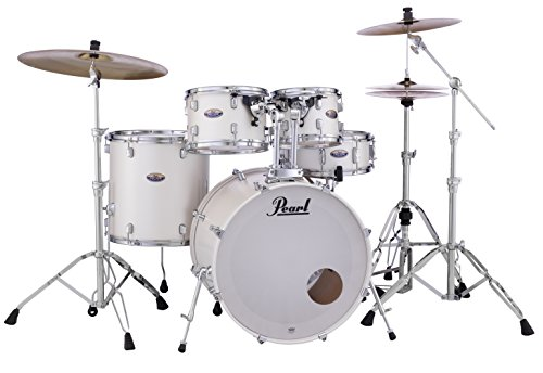 Pearl Decade DMP925SP/C229 5 Piece Drum Shell Pack, White Satin Pearl - White Drum Set