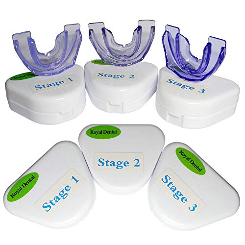 RoyalDental Orthodontic Retainer Teeth Trainer Oral Braces Dental Appliance Mouthpieces Whitening (3 pieces/set) from RoyalDental