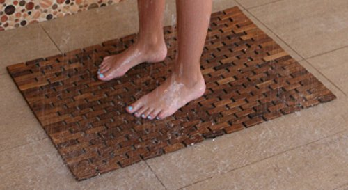Hip-o Modern Living Teak Indoor Outdoor Bath and Shower Mat by Hip-o Modern Living (Image #2)