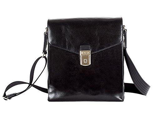 [Bosca Old Leather Man Bag (One size, Black)] (Bosca Bag)