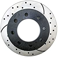 Prime Choice Auto Parts PR65057R Rear Passengers Side Performance Drilled And Slotted Brake Rotor