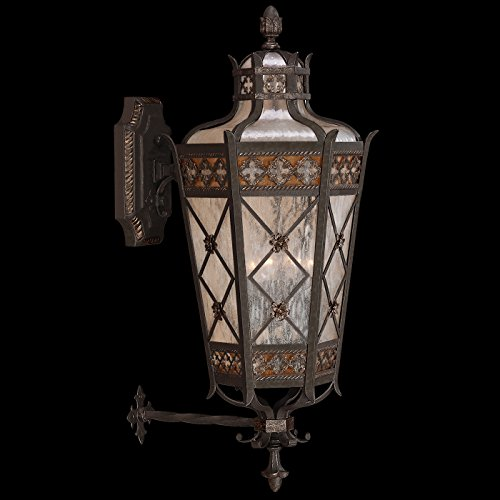 Fine Art Lamps 403681, Chateau Outdoor Wall Sconce Lighting, 240 Total Watts, Patina - Chateau Rustic Sconce
