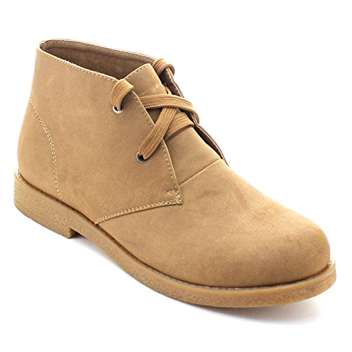 Ease Over 02 Up Flat Camel Ankle Lace Breeze Soft Women's Nature Cuff Fold Booties 6Ex5Hwq8En