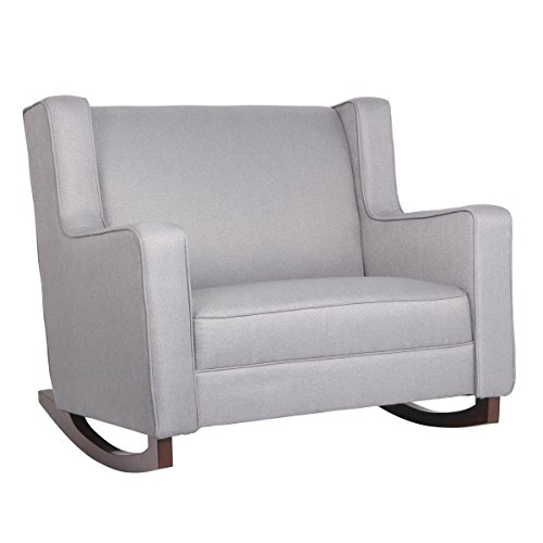 Esright Grey Fabric Rocker Morden Rocking Chair Comfortable Relax Glider