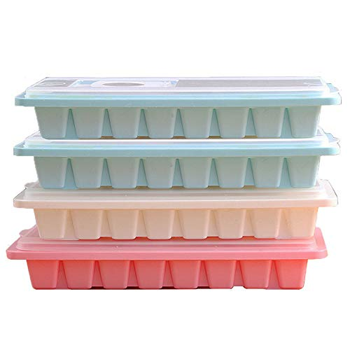 (Ice Cube Trays, Ice Cube Molds with Lids for Candy Pudding Mold, Baby Food, Whiskey and Cocktail)