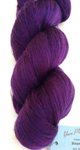 - Yarn Place Heaven Yarn Skein Lace Wt. Tencil/Merino 125g 3280 yds (Purple Hippie 03-01)