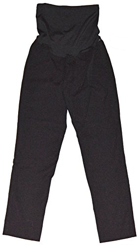 Twill Maternity Crop Pant (GAP Maternity Black Bi-Stretch Slim Crop Full Panel Twill Pants 0)