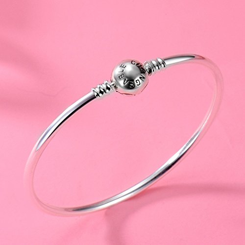 Changeable 925 Sterling Silver Women Charms Bracelet (Smooth Bangle) 19CM by Changeable (Image #5)
