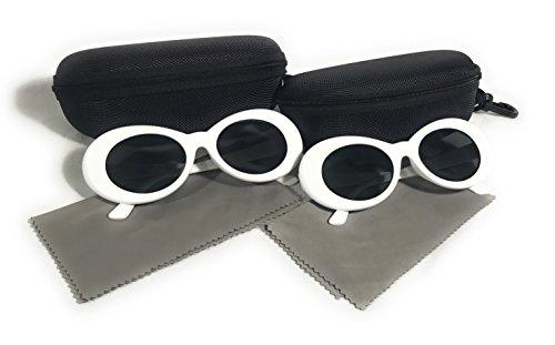 gafas Kurt Shades 2 sol Cobain blanco nbsp;pares estilo Rapper Oval de influencia gafas CBqpwO