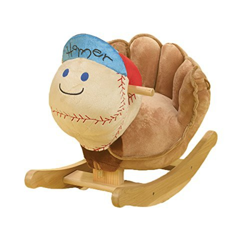 Rockabye Homer Baseball Rocker, Blue by Rockabye