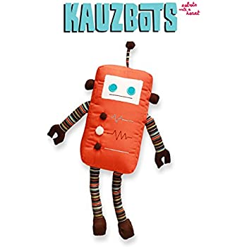 KAUZBOTS - Plush Robot Plushies Cute Stuffed Animals - Each Purchase Helps Fight Hunger (KARISSA)