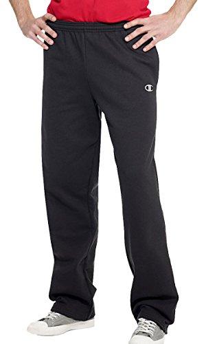 Champion Eco Fleece Open-Hem Men's Sweatpants_Black_Medium