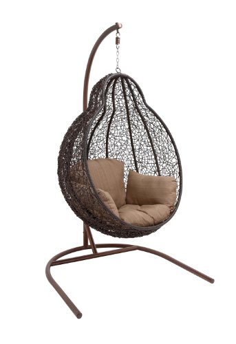 Benzara The Beautiful Metal Rattan Swing - Living Room Swing