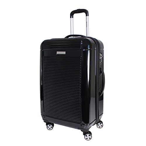 World Traveler Regal Hardside Lightweight Spinner Luggage Suitcase - Black (24-Inch) by World Traveler