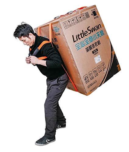 [해외]캐리 벨트 사람 운반 벨트 가구 세탁기 골 판지 짐이 삿 짐 짊어지고 형 (오렌지) / Carry Belt Single Handilycarrying Belt Furniture Washing Machine Cardboard Luggage Moving Back Type (Orange)