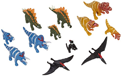 Stegosaurus Dinosaur Miniature - Wild Republic Dinosaur Family Animal Figurines Tube, Dinosaur Toys, TRex, Triceratops, Stegosaurus and Pteranodon Dinosaur Families Collection