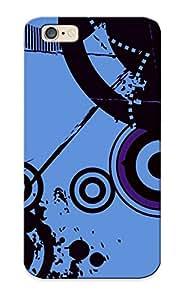 Emulationaw Premium Protective Hard Case For Iphone 6- Nice Design - Retro Circles And Paint Splashes