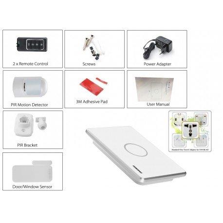 Seguridad en el hogar sistema - GSM, SMS notificaciones, Sensor PIR, puerta sin hilos Sensor de alarma, Control remoto inalámbr: Amazon.es: Bricolaje y ...