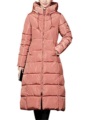 Down Salmon Quilted Outerwear Womens Jacket Coat Jacket Warm Padded Long Winter Slim Hooded with Ladies BESBOMIG nbsp;pink fit Puffa p14x5T
