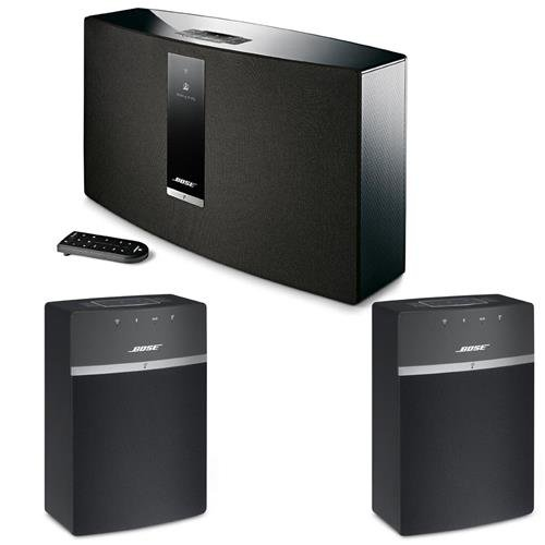 Bose SoundTouch 30 Series III Wireless Music System with Remote Control, Black – With 2x Bose SoundTouch 10 Wireless Music System with Remote Control, Black