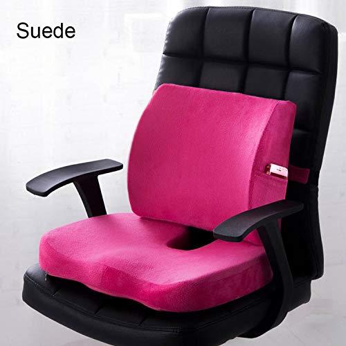 Memory Back Cushion Waist Set for Pregnancy Mesh Cushion Chair Pad,Suede - Combo Cushion Seat Back