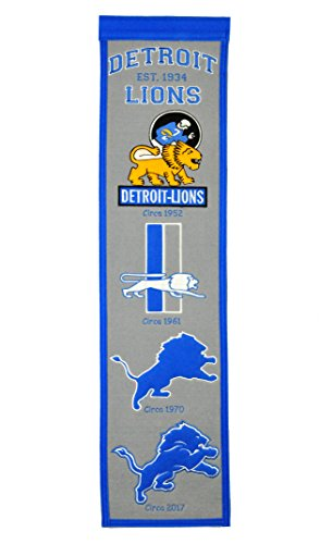 NFL Detroit Lions Heritage Banner (Lions Fan Banner)