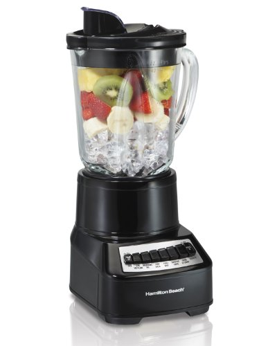 Hamilton Beach Wave Crusher Multi-Function Blender with 14 Speeds & 40 oz Glass Jar, Black (54220) (Glass 48 Units)