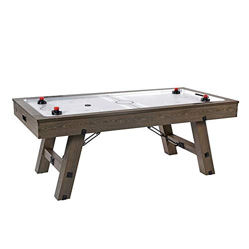 Lancaster Gaming Company Medal Sports 84 Inch Air Powered Electric Air Hockey Table with Game Accessories