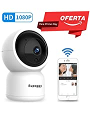 Pan/Tilt/Zoom HD IP Cámara Vigilancia 1080P de Supoggy Cámara de Seguridad Doméstica Wifi Seguimiento Automático Con visión Nocturna Audio Bidireccional Vista Remota mediante APP por iOS, Android y PC