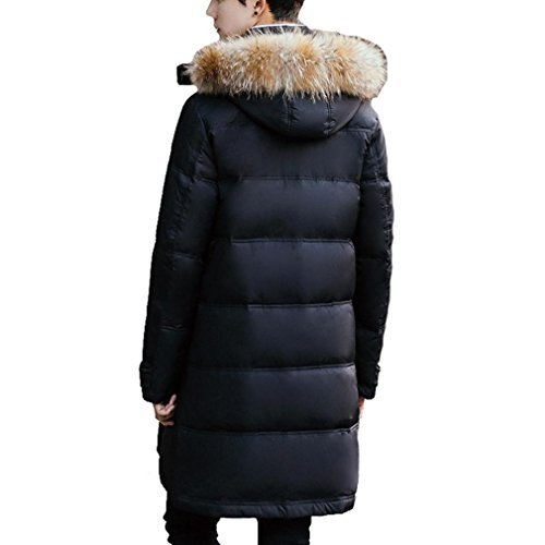 New long fur jacket Detachable Black the The In Coat Winter YANXH collar Down Section Men's Cap 7BFn8Eqwq
